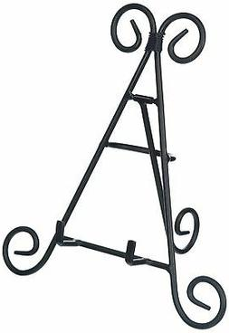 9 Tall Black Iron Display Stand Holds Cook Books, Plates, Pi