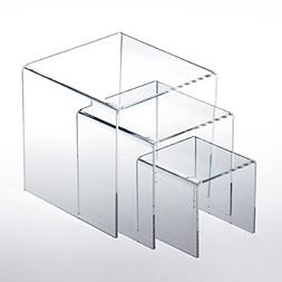 Adorox Top Quality  Clear Acrylic Display Riser  Jewelry Sho
