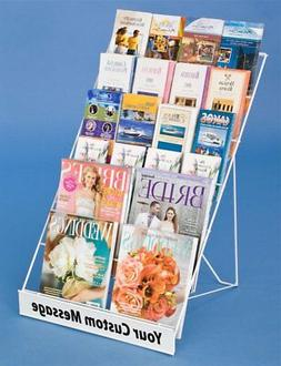 Displays2go Tabletop Literature Organizer for Magazines  Bro