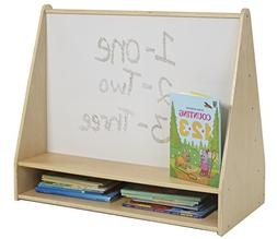 ECR4Kids Birch Hardwood Pic-A-Book Stand with Dry Erase Whit