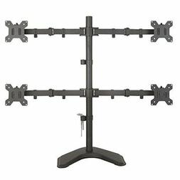 EZM Basic Quad 4 LCD LED Monitor Mount Stand Free Standing w