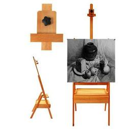 French Easel Portable Wooden Storage Tripod Stand w/ Display