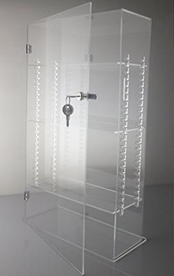 T'z Tagz Brand Acrylic Lucite Showcase with ADJUSTABLE SHELV