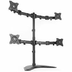 VIVO Quad Monitor Mount Fully Adjustable Desk Free Stand for