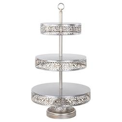 Victoria Collection' 3 Tier Dessert Stand with Reversible Ti