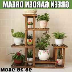 Wooden Plant Flower Herb Display Stand Shelf Storage Rack Ou