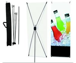 "X Banner Display Stand 24"" wide 63"" tall + travel bag"