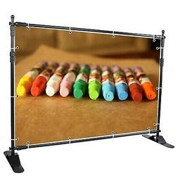 Yescom 8' Step and Repeat Display Backdrop Banner Stand Adju
