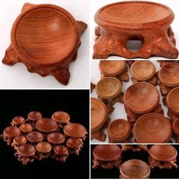 Acid Branch Wood Display Stand Base For Crystal Ball Sphere