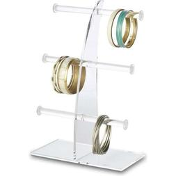 Acrylic Bracelet Display Stand 3 Tier T-Bar Tree Stand