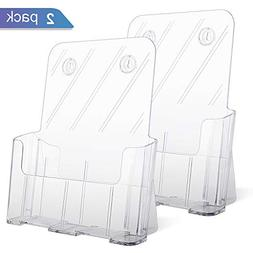 "Ktrio Acrylic Brochure Holder 8.5 x 11"" Plastic Acrylic Hold"