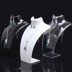 Acrylic Necklace Chain Pendant Earring Jewelry Bust Display
