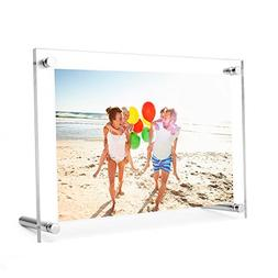 TWING 5 x 7 Acrylic Picture Frame ,Clear Desktop Frameless A