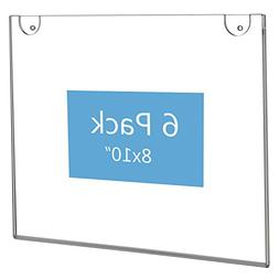 NIUBEE Acrylic Sign Holder 8x10 Horizontal,Clear Plastic Pic