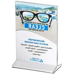 Amazing Clarity Acrylic Sign Holder Table  Menu Display Stan