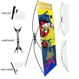 adjustable banner stand portable removable