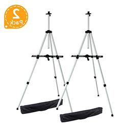Artist Easel, Ohuhu 2-pack Aluminum Field Easel Stand with C