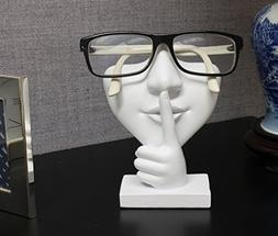 Artsy Face Eyeglass Holder Stand - Sculpted Nose for Eyeglas
