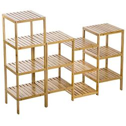 PayLessHere Bamboo Storage Shelf Rack Plant Display Stand 13