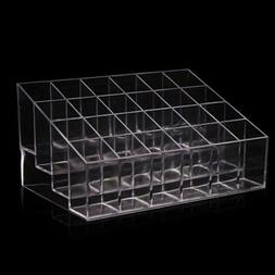 Clear 24 Lipstick Holder Display Stand Cosmetic Organizer Ma