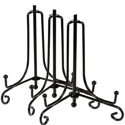 "Lictin 3pcs 4"" Black Iron Display Stand, Black Iron Easel Pl"