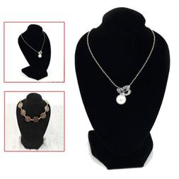 Black Mannequin Necklace Jewelry Pendant Display Stand Holde