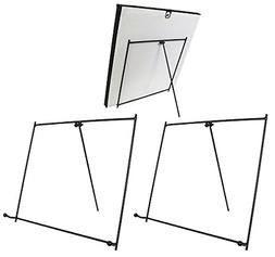 Black Metal Easels Wrought Iron Display Stands - 9 Inch - Se