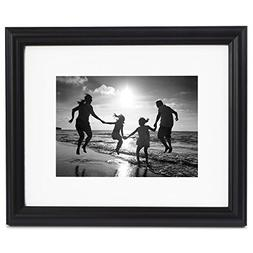 8x10 Black Picture Frame - Made to Display Photographs 5x7 o