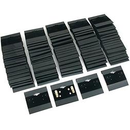 Super Z Outlet Black Velvet Plastic Display Cards for Earrin