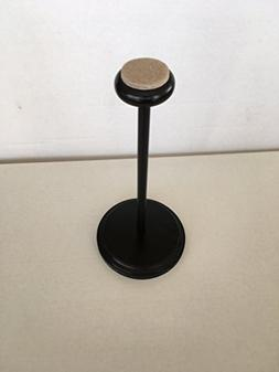 Tripar Large Black Wooden Hat Stand with Velour Top