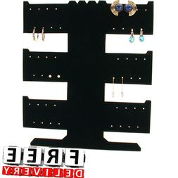 Bracelet Display Stand Earring Necklace 3 Tier 24 Pair Black