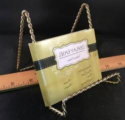 """Brass Color Twisted Wire Display Stand Easel 4-1/4"""" Tall X 3"""