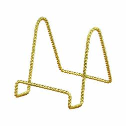 "Tripar Brass Twisted Wire Display Stand 3"" Tall"