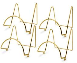 BANBERRY DESIGNS Brass Wire Easel Display Stand Plate Holder