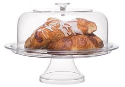 Break Resistant Hard Plastic Cake Stand with Cover, Cake Pla