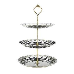 Fruit Plates, Samyoung 3-Tier Stainless Steel Cake Wedding S