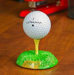 Golf Expressions Carved Tee Off Golf Ball Display Stand - De