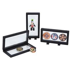 Challenge Coins Displays, 3D Floating Double Sided Stand Box