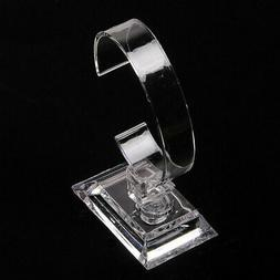 Clear Acrylic Base Watch Display Stand Holder Retail Single