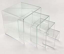 Clear Acrylic Display Risers-Set of Four