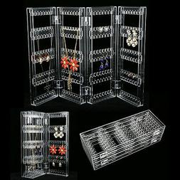 Clear Acrylic Earrings Necklace Jewelry Display Rack Stand O