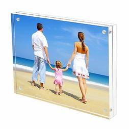 8x10 Acrylic Picture Frame, Clear 15 + 15MM Thickness Magnet