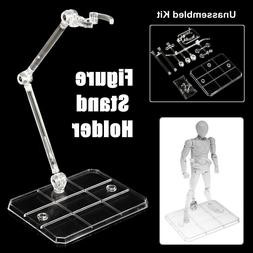 Clear Action Figure Base Display Stand Holder Fit For HG SHF