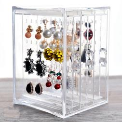 Clear Jewelry Display Stand Holder Rack Plastic Screen Earri