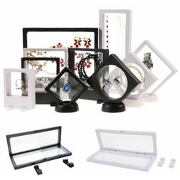 Clear Jewelry Suspended Coins Floating Display Case Stand Ho