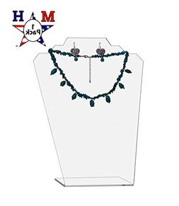 """Marketing Holders Clear Necklace Display Easel 11.5"""" H"""