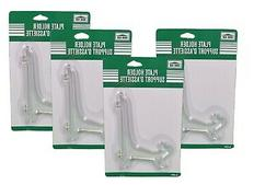 Lot of 4 Clear Plastic Decorative Plate Holders Display Stan
