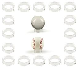 "20 pcs Large Acrylic Clear Baseball Stands 1-5/8"" Size Displ"