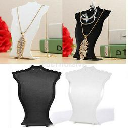 Commerical Pendant Necklace Display Bust Stands Plastic Jewe