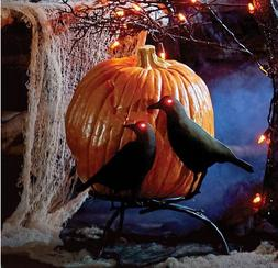 Crows On Branch Pumpkin Holder Display Stand Halloween with